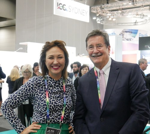 Geoff Donaghy, CEO, and Samantha Glass, Director of Corporate Affairs and Communications at Sydney ICC